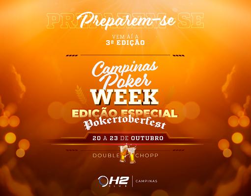 """Pokertoberfest"" será o tema do Campinas Poker Week no H2 Club Campinas"