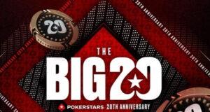 The Big 20 comemora os 20 anos de vida do PokerStars