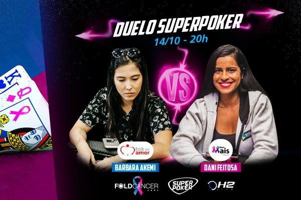 Bárbara Akemi e Dani Feitosa estarão na tela do SuperPoker por uma causa nobre
