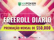 Através de freerolls diários, o KKPoker distribui mais de US$ 50 mil todo mês